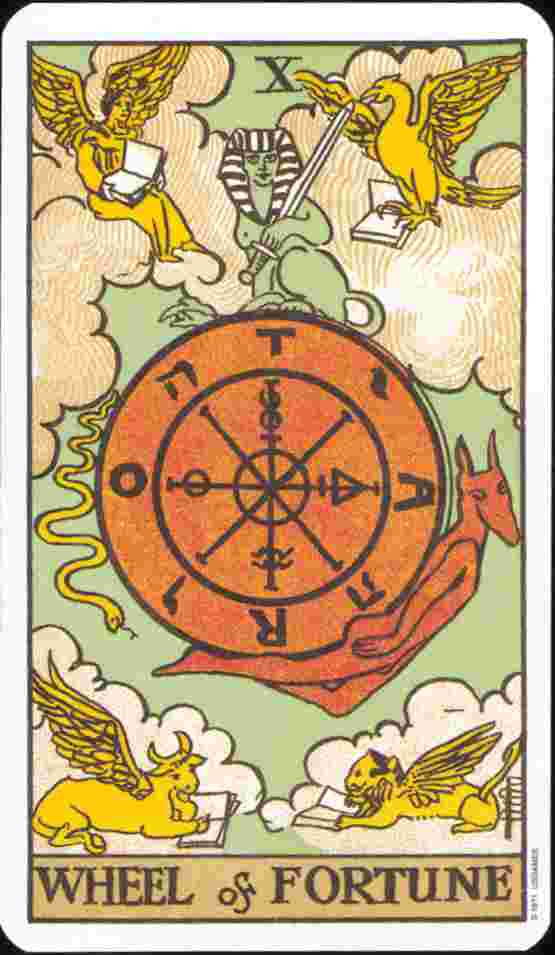 The Wheel Of Fortune Card 10 Tarot Card Meaning Readtarot