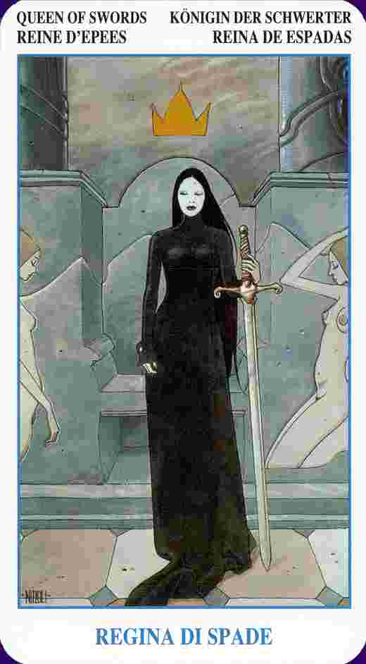 Queen of Swords Tarot Card Meaning - ReadTarot.com - Learn to read ...